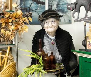 Whimsical Halloween décor is on display at Ladybug Keepers on Locust Street.