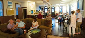 Garth Gallery on South Second Street features two floors of exhibits, plus a café.