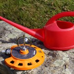 Spinning or impulse-type sprinklers and watering can