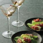 Crispy Tuna Tar Tar in Heart of Romaine Cups and Martinis
