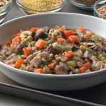 Golden Wheat Berry Stew  with Chicken and Wild Mushrooms