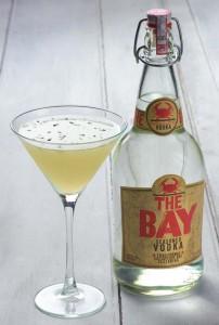 Lemon Basil Martini using The Bay Vodka