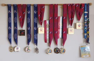 Karl's wife, Jean, who is a retired physical education teacher, devotes her free time to competing in senior-level athletic events. Jean's many awards and mementos of her travels are displayed in the Brubaker's home.