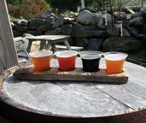 The flight of craft beers at Boothbay Craft Brewery provided a taste of local life, as the name of each beer relates to the area.