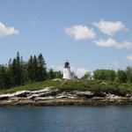 Built in 1821, Burnt Island lighthouse in Boothbay Harbor is one of the most recognizable lighthouses in Maine.