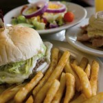 Burgers, deli-style sandwiches, salads, soups and more comprise the lunch/dinner menu at Central Manor Bakery and Grille. Breakfast  is also available all day long.