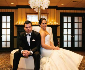 Anne Nikolaus realized her dream of holding her wedding reception at the Lancaster Country Club, where she grew up playing golf. Kylene Lynn Photography.