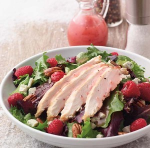 Raspberry Pecan Grilled  Chicken Dinner Salad