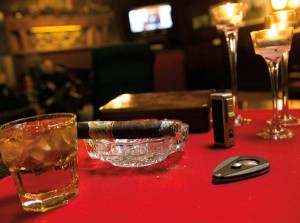 Members of the Elks Lodge #134 are afforded the privilege of being able to smoke cigars in the lounge.