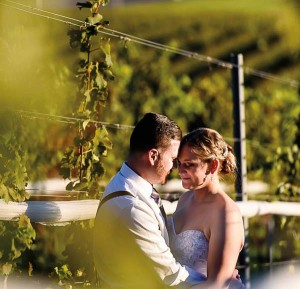 Ben and Ashley Miller held their wedding at The Vineyard at Grandview last October. Photo by April and Bryan Westhafer.