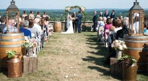 The Virginia countryside provided the backdrop for Melanie and Max Miller's wedding, which was held last August.