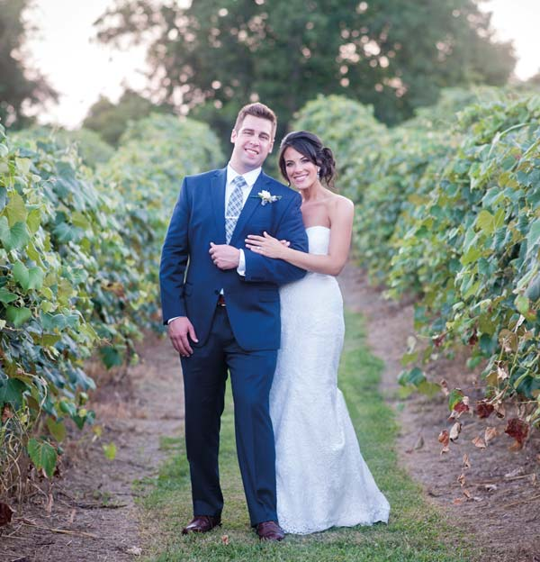 The vineyard's grapevines provided the background for Melanie and Max's wedding photos that were taken by Melanie's co-anchor, Amy Lutz. Traffic Reporter Chris Garrett served as the DJ for the reception.