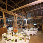 The barn at Oregon Dairy was the site of the dinner that featured an all-Lancaster menu.