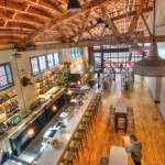 What was once a grocery store and then a warehouse is now an open, airy and light-filled restaurant.