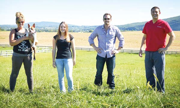 Left to right: Janine Guido (with Libre), Jennifer Nields, Dextin Orme and Dr. Ivan Pryor