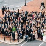 After the ceremony, guests gathered in Penn Square for a commemorative group photo.