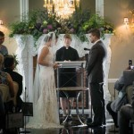 Exchanging vows ranks as the couple's favorite wedding memory.