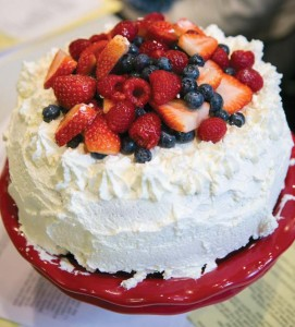 A Sicilian Cassata Cake was one of the four gluten-free recipes made in chef Tina Bare's cooking class at Zest!.