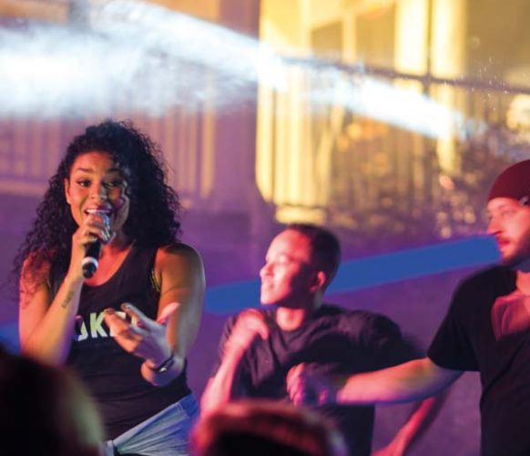 American Idol winner, Jordin Sparks, provided a high-energy concert for the attendees.