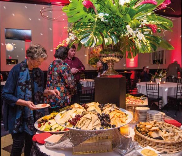 Stations were filled with a variety of delectable offerings from Greenfield Catering.