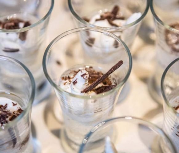 Let them drink cake! In lieu of a traditional birthday cake, shots of cupcake vodka, layered with whipped cream and chocolate shavings, were the toast of the night.