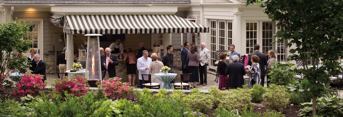 Weather cooperated and allowed for guests to enjoy cocktails, hors d'oeuvres and conversation on the terrace.