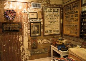 The lower level of Elaine's home is filled with family memorabilia and items that relate to the history of the Schoeneck area. The walls were salvaged from a building that was taken down on her grandparents' property and were repurposed by Andy Wood.
