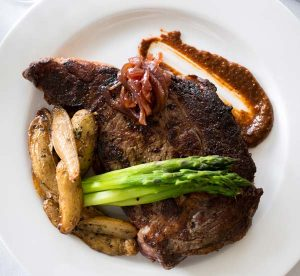 Steak remains an integral part of the menu. And, a burger has been added to the menu.